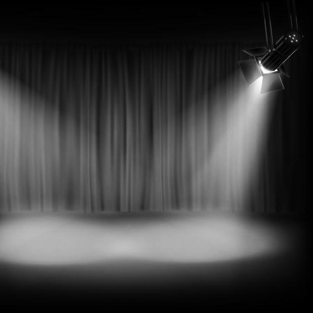 Musicalunterricht - Bühne mit Scheinwerfer beleuchtet