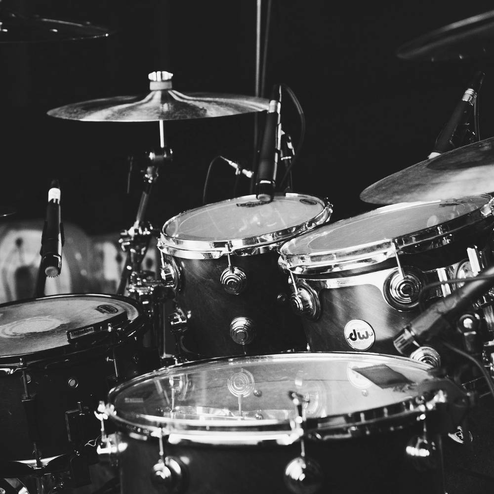 Schlagzeugunterricht - Aussschnitt eines Drum-Sets